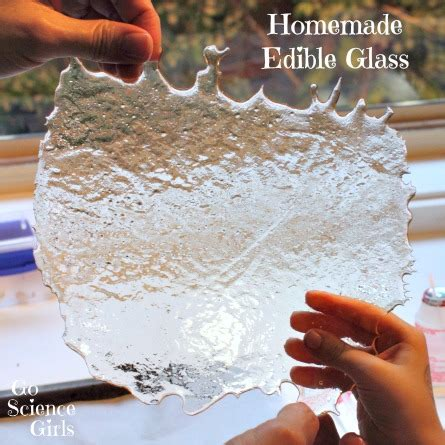 the science behind edible glass go science girls