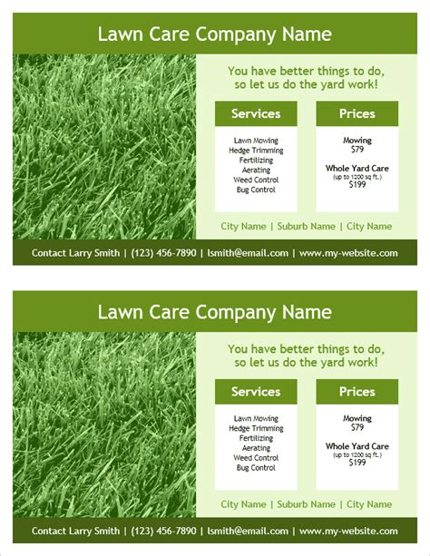 lawn care flyer template print lawn care flyers studio design gallery best