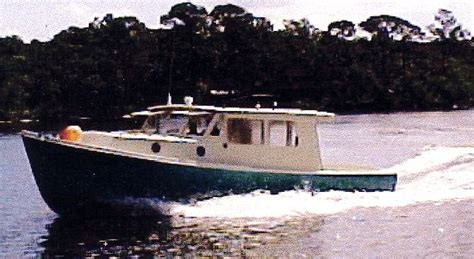 home built boat plans woodworking project pot luck lobster boat plans pic583a