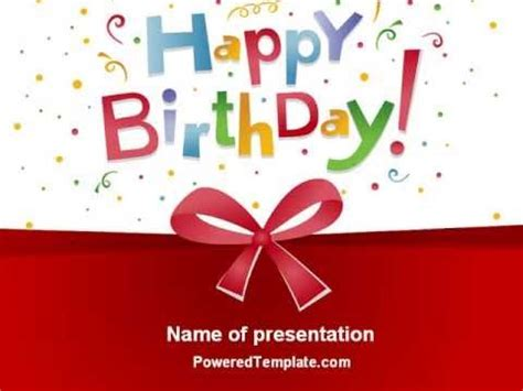 Happy Birthday Bow Powerpoint Template By Poweredtemplate Com Youtube Happy Birthday Powerpoint Template