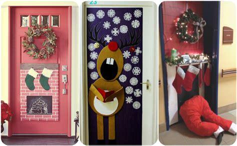decorado de puertas para navidad puertas decoradas para recibir la navidad con mucho