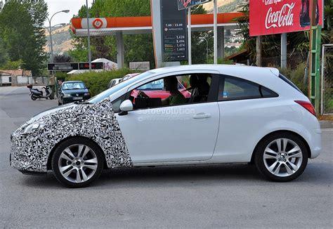 opel door spyshots 2014 opel corsa 3 door with major facelift