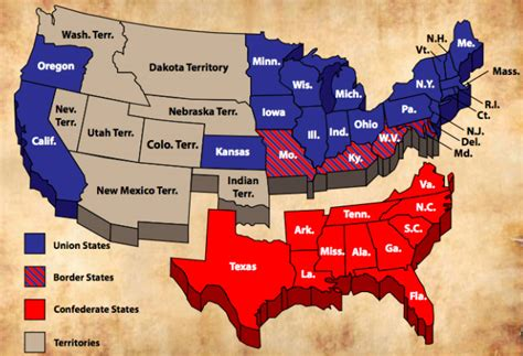 map of the united states union and confederate us civil war secession map 2000px us secession map 1861