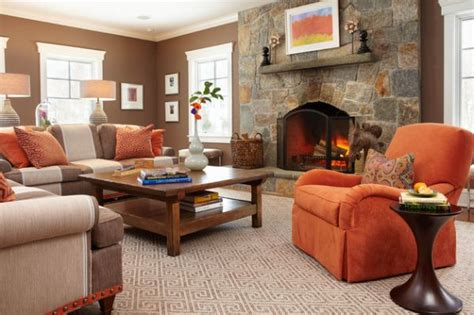 Orange Sofa Decorating Ideas by Decorating With Orange Accents Inspiring Interiors