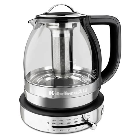 Kitchen Aid Kettle by Kitchenaid Kek1322ss 1 5l Electric Glass Tea Kettle Stainless Steel Kitchen Dining
