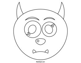 printable monster mask template printable monster mask