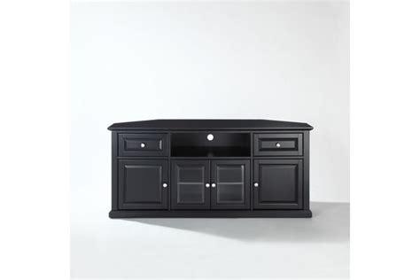 60 Quot Corner Tv Stand In Black By Crosley Crosley 60 Inch Corner Tv Cabinet Stand