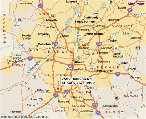 atlanta georgia surrounding area map atlanta map toursmaps com