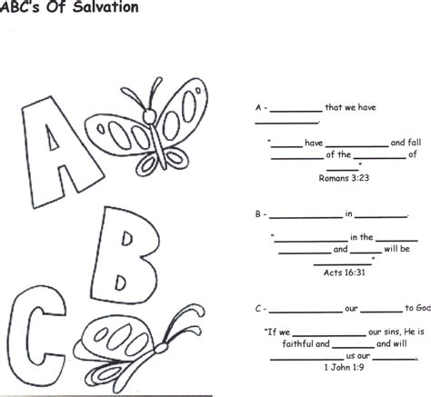 printable abc s of salvation admit believe confess coloring pages coloring pages for free
