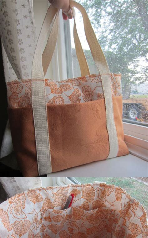 Tutorial Handmade Bag - easy tote bag tutorial from poppyseed fabrics http