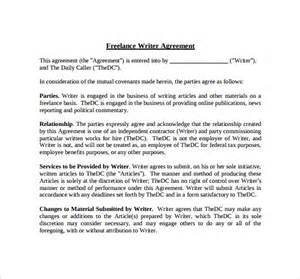 written agreement template freelance contract template 9 free sles exles