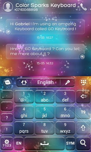 go keyboard color go keyboard color sparks theme para android descargar gratis