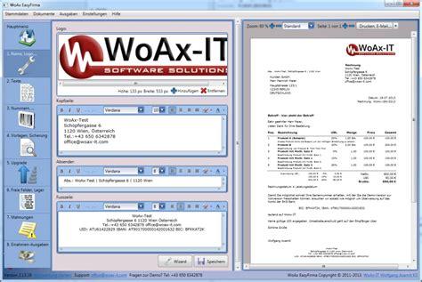 Rechnungssoftware Schweiz Woax Easyfirma Moderne Rechnungssoftware F 252 R Unternehmen Freeware De