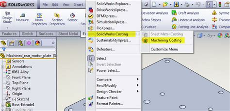 Using The Costing Tool In Solidworks Computer Aided Technology Solidworks Costing Template