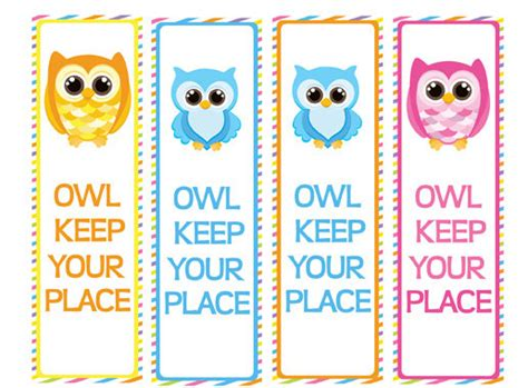 printable owl bookmarks items similar to printable owl bookmarks party favors on etsy