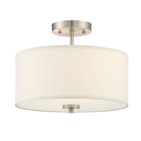 flush mount drum light 251 first nicollet brushed nickel two light drum semi