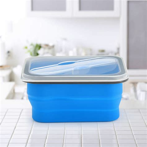 collapsible garden container kcasa kc fy02 collapsible silicone lunch box bpa free
