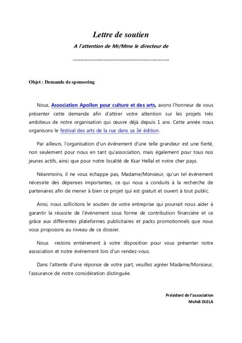 Demande De Sponsoring Lettre Type Dossier Sponsoring Final01062014