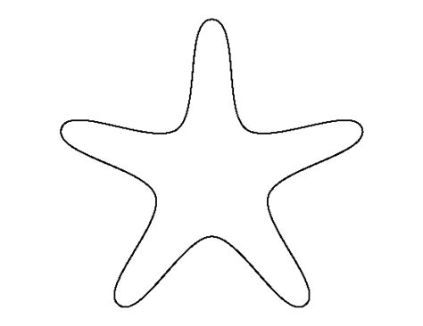 template of starfish pin by muse printables on printable patterns at patternuniverse