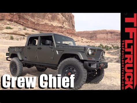 jeep prototype truck we drive the jeep crew chief 715 truck concept