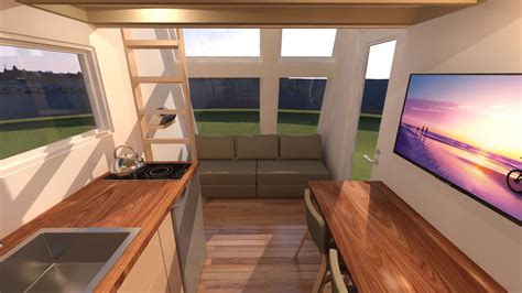 tiny house living room introducing the anchor bay 16 tiny house plans tiny house design