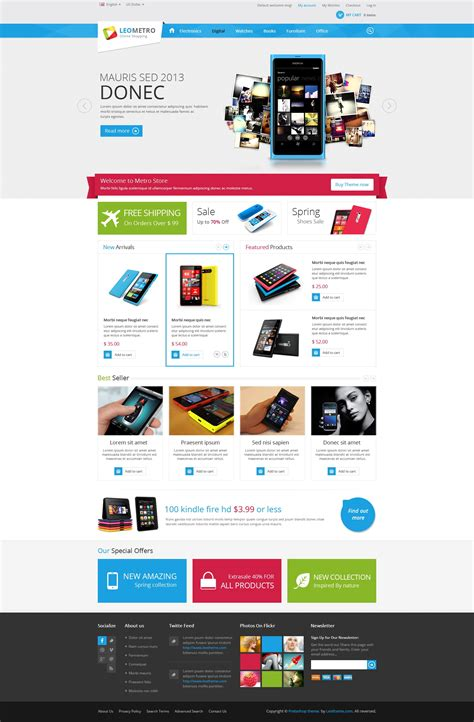 leo metro prestashop   theme  mobile