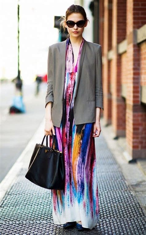 Maxi Dres And Blazer 15 ways to style your maxi dresses for fall 2018