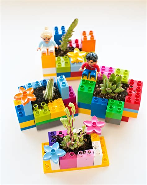lego crafts for lego mini planters family crafts