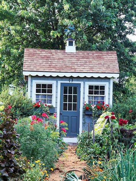 cute garden sheds cute blue shed into the garden pinterest