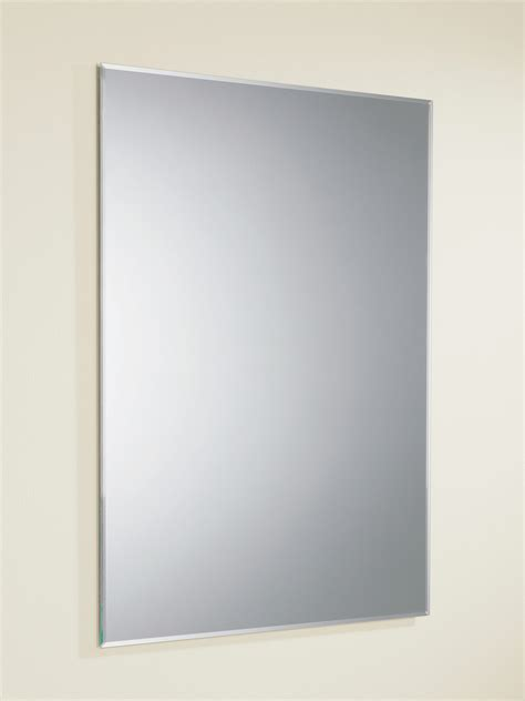 bathroom mirrors demister hib joshua rectangular mirror with bevelled edges 500 x