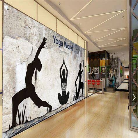 custom photo wallpaper retro nostalgic yoga fitness mural