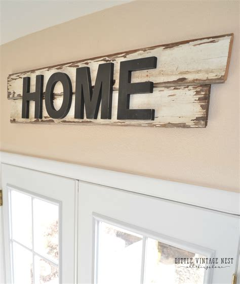 Signs And Plaques Home Decor by Diy Farmhouse Style Home Sign Little Vintage Nest