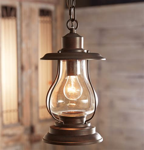 Lantern Pendant Lights Weathered Patina Lantern Pendant Light