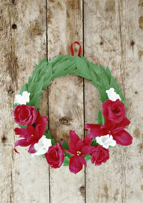 Things To Make With Crepe Paper - crepe paper wreath by all things paper project