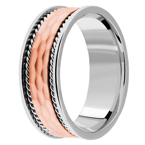 Handmade Mens Wedding Bands - handmade textured wedding band 14k white gold mens ring