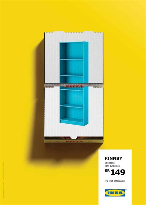 a smart ikea caign that emphasizes on the products low