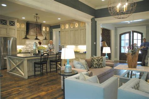 kitchen living room open floor plan paint colors design trends at kings chapel parade of homes the