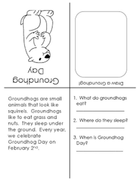 groundhog day story ms s slp materials story booklet groundhog day