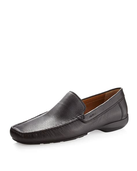bruno magli mens loafers bruno magli kolver perforated loafer black in black for