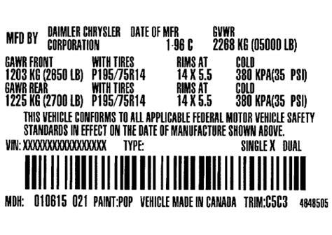 repair guides vehicle certification label vehicle certification label autozone