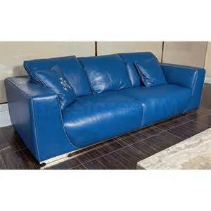 sofas mia bella sophia leather standard sofa aqua blue by michael amini mb sophi15 aqb 13 9