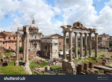 one forum rome italy one most landmarks stock photo 53304103