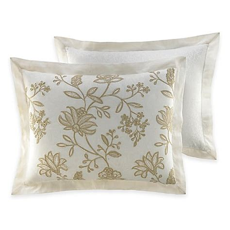 pillow shams bed bath and beyond croscill 174 devon pillow sham in natural bed bath beyond