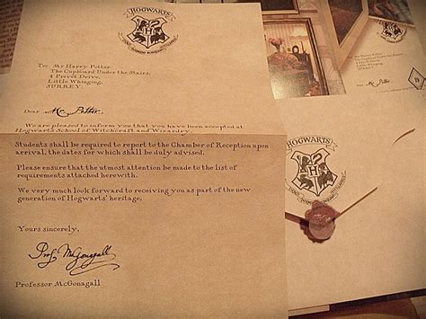 Hogwarts Acceptance Letter Original Pin By Green On Gift Ideas