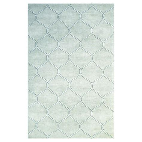 Simple Area Rugs Kas Rugs Simple Scallop Frost 5 Ft X 8 Ft Area Rug