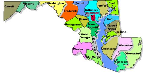 maryland counties map maryland counties gallery