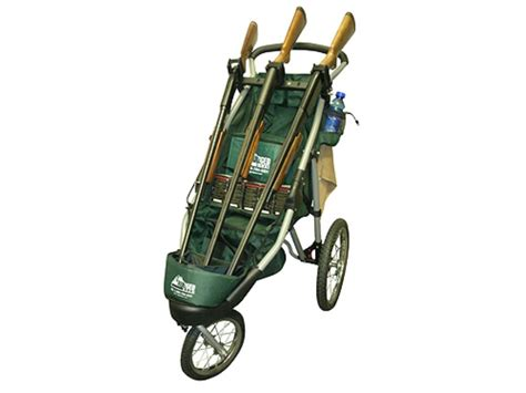 rugged gear cart rugged gear standard three gun shooting cart swivel front wheel green