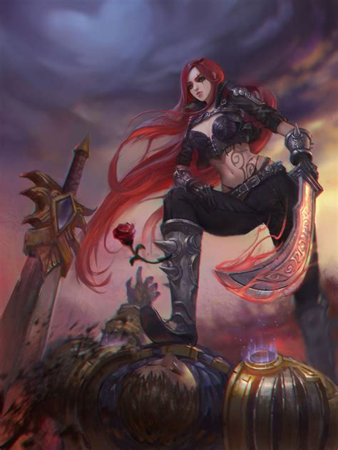anime girls sword league  legends katarina league