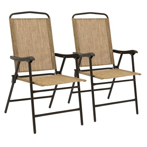 Sling Folding Chairs by Best Choice Products Set Of 2 Portable Patio Sling Back