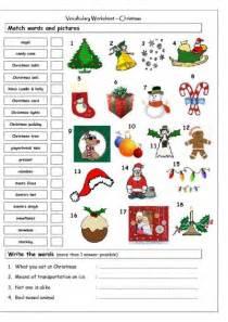 my english classes christmas worksheets